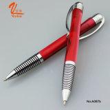 古典的な様式の金属のペンの赤いカラーアクリルの球ペン