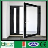 Porte en verre et porte de tissu pour rideaux d'aluminium