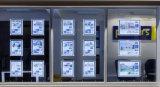Bolso leve magro do diodo emissor de luz para o mediador imobiliário que anuncia indicadores
