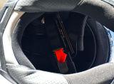 점 기준을%s 가진 두 배 챙 안전 굵은 활자 기관자전차 헬멧