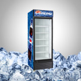 Refrigerador vertical comercial con una sola puerta de cristal