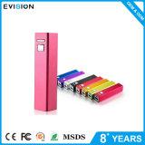 Rosa Cargador de batería externa portátil portátil 2600mAh