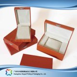 나무로 되는 마분지 시계 또는 보석 또는 선물 전시 포장 상자는 놓았다 (xc-hbj-029A)