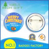 第1の安全ピンの検索のお祝いのクリスマスのギフトのプラスチックバッジ