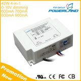 34-42W 0.6A 0.7A 0.8A 0.9A 4 in-1 0-10V obscurcissant le gestionnaire de DEL avec le certificat d'UL de la CE