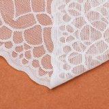 Testo fisso elastico del merletto di stirata di Guangzhou del commercio all'ingrosso bianco del tessuto