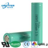 18650 3.7V 2150-2500mAh Li-Ionbatterie-Zellen-nachladbare zylinderförmige Batterie für E-Zigarette