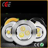 Avec 3 ans de garantie dirigé vers le bas des feux de lumière LED Spot Shopping Malls, 10W/12W/15W COB Downlights LED