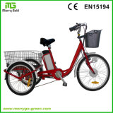 motocicleta elétrica da carga da roda de 36V 250W 3 para adultos