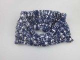Tecido de malha feminina Braceletes de ouvido esticável Headband para meninas