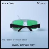 630 - 660nm Dir Lb3 & 800 - vidros de segurança do laser de 830nm Dir Lb3 & de 900-1100nm Dir Lb5 para 635nm vermelho laser + 905nm, lasers dos diodos 980nm com frame 36