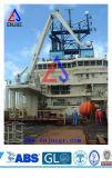 50t Semi Foldble Offshore do braço de grua com Kunckle Lança Guindaste