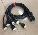 Elektrisches Zubehör-Draht-Gummikabel mit Socapex Steckern