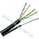 La platija pasó el cable Cat5e de la prueba UTP el cable al aire libre