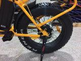 20 pouces - croiseur électrique pliable de plage de bicyclette de gros pneu de haute énergie