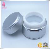 Vaso di alluminio crema di ceramica cosmetico d'argento