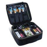 Caselle cosmetiche professionali di trucco dell'organizzatore del sacchetto di trucco di caso di trucco di corsa (viola)