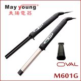 Venda Por Atacado New Design Oval Barrel Ceramic Coating Pofessional Hair Curler