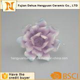 Flor de cerámica hecha a mano de la porcelana para la decoración casera