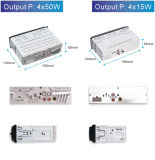 Abnehmbarer Panel-Auto-Verstärker mit LCD-Bildschirm und FM morgens