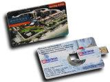Regalo promocional del tirón 8GB del USB del mecanismo impulsor de la tarjeta de crédito plástico del flash