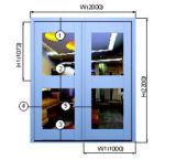 절연제 알루미늄 여닫이 창 Windows, 방음과 Anti-Theft