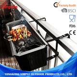 BBQ van de Houtskool van de Ventilator van de Rook van het roestvrij staal Rechthoekige Grills voor Verkoop
