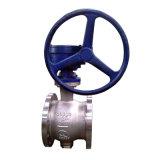 Vávula de bola del borde manual del funcionamiento del acero inoxidable media/semi vávula de bola Bq340h-25r Dn200