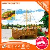 Attrezzature esterne di legno della strumentazione di divertimento del campo da giuoco dei bambini per il banco