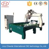 Carver CNC pedra a máquina com o botão rotativo para pilares gravura
