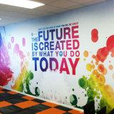 As cores cheias criam envoltórios da parede e papel de parede das pinturas murais da parede