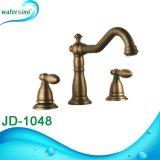 L'acquazzone Bronze 5holes della cascata si raddoppia miscelatore della vasca da bagno della maniglia