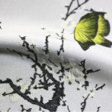 Tessuto del jacquard tinto filato di qualità superiore del fronte del raso