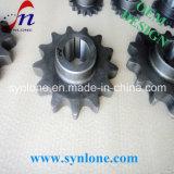 CNCの機械で造り、歯切り工具で切るチェーン車輪