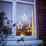 Battery Operated hotly White LED acrylic star Hanging Window Light LED string Light