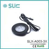 매우 호리호리한 라운드 3W는 아래로 도매한다 장식적인 아래 내각 빛 (SLCG-A003-1)를
