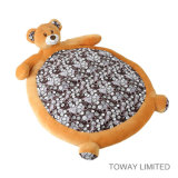 Karikatur-Bären-Haustier-Kissen füllt Baumwollsteppdecke-Vlies-Hundebetten auf