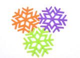 Vorm van de Sneeuw van de Mat van de Lijst van het Silicone van de Rang van het Voedsel van de Gift van de bevordering de Kleurrijke