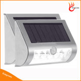 Sensor 9LED PIR Solar Light Yard Patio Path Solar Fence Light Sem fio Solar Garden Light
