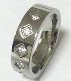 Ring de Van uitstekende kwaliteit van het Roestvrij staal van CZ van de Manier van juwelen (CZR2525)