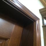 Puerta de entrada de madera de talla hecha a mano de Sapele de la puerta (XS2-013)