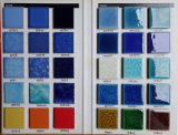 陶磁器のモザイク・タイルの青カラー