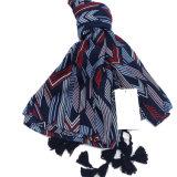 نساء نابض [شفّون] طباعة شال [سونسكرين] لفاف رأس وشاح ([سو116])