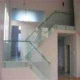 12mm Transparent Bent en verre trempé pour escalier Clôtures