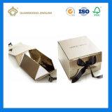 로고 인쇄를 가진 광택 있는 은 마분지 종이 선물 상자를 접히는 호화스러운 고품질 (자동 접히는 서류상 선물 상자)