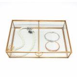 Оптовая торговля двойной отсеков современной золотой ювелирных изделий из стекла в салоне