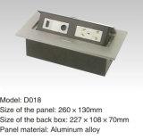 Neues Modell-Edelstahl-runde Form-Fußboden-Kontaktbuchse-Kasten