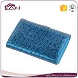 نمط رفاهيّة إمرأة محفظة في لون زرقاء, تمساح [جنوين لثر] محفظة [هيغقوليتي]