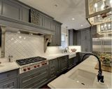 Gabinete de cozinha de melamina de bancada curvado de estilo contemporâneo