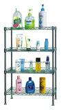 Crémaillère carrée d'étagère de salle de bains de fil en métal de chrome, type de DIY et de K/D (CJ-C1037)